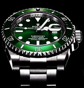Pretty Green Bezels Rolex Submariner Date Fake Watches