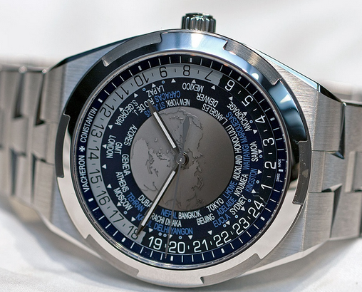 Steel Vacheron Constantin Overseas World Time Fake Watches