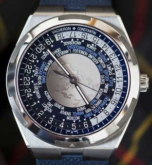 Steel Vacheron Constantin Overseas World Time Replica Watches