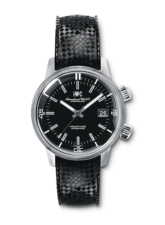 Replica IWC Aquatimer Black Dial Steel Watches