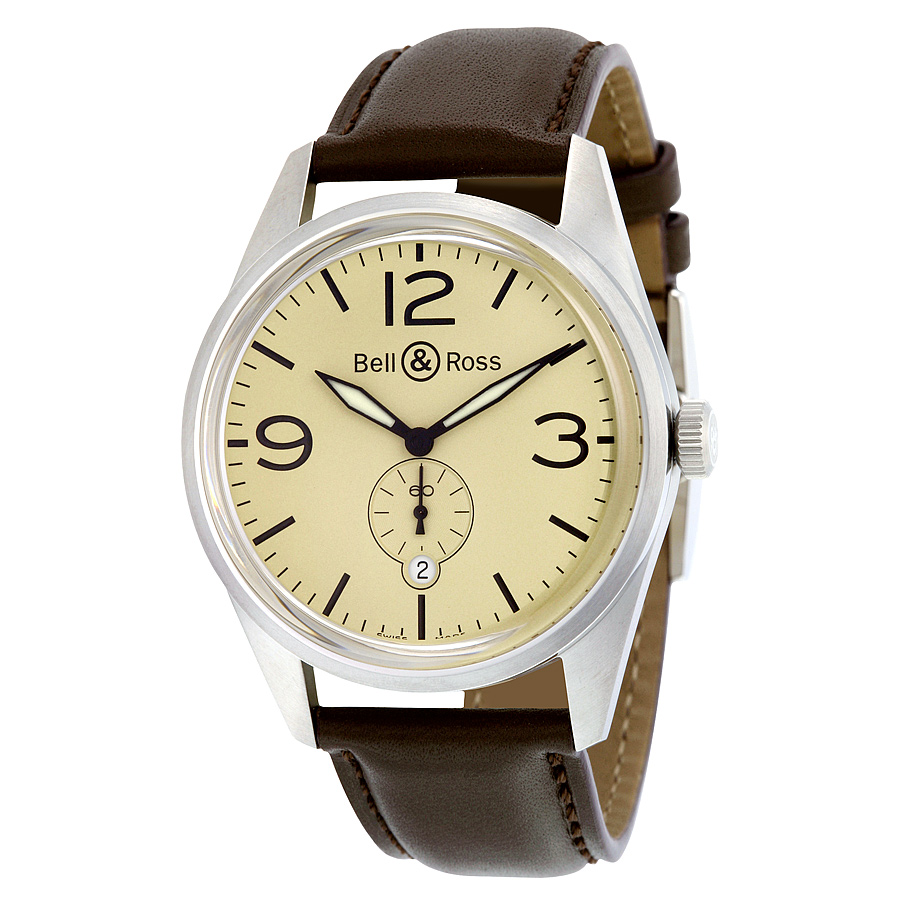 Best Replica Yellow Dial Bell & Ross Vintage Original Automatic Mens Watches