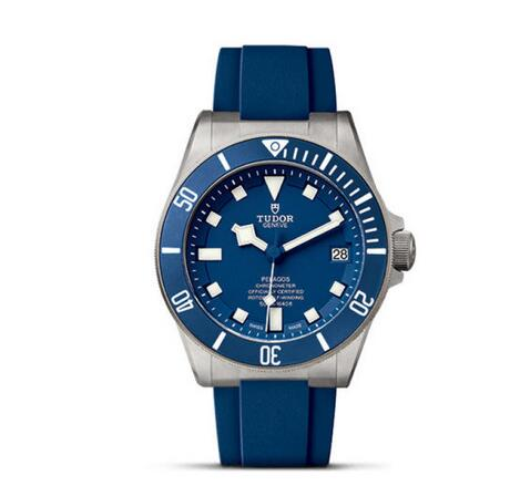 best tudor pelagos blue rubber strap steel watch