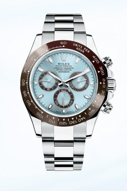Rolex Cosmograph Daytona Replica Swiss Watches With Ice Blue Dials For Sale