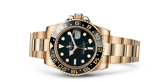Black And Yellow Gold Rolex GMT-Master II Fake Watches Of Good Quality
