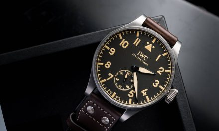 Round titanium case iwc big pilot's heritage watch 48 replica watch ref.IW510401