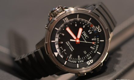 IWC Aquatimer Deep Three Caoutchouc Strap Titanium Watch Replica