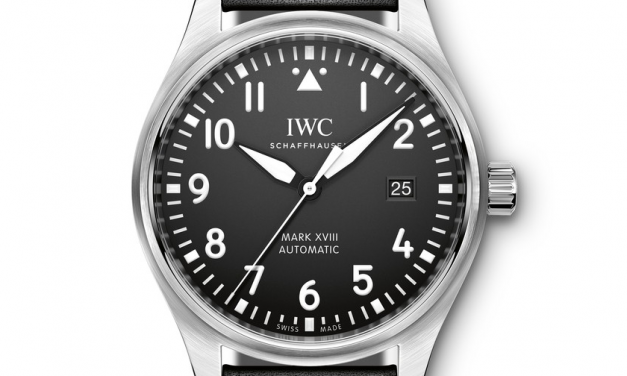 40mm Round Case IWC Pilot's Mark XVIII Automatic Black Dial Replica Watch