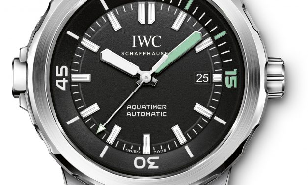Black Dial IWC Aquatimer Automatic Rubber Strap Steel Replica Watch