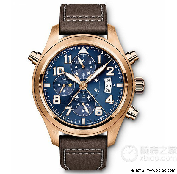 top quality replica iwc big pilot rose gold perpetual calendar