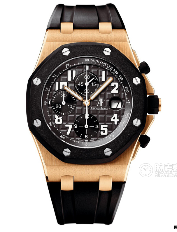 cheap audemars piguet royal oak offshore rose gold black dial replica
