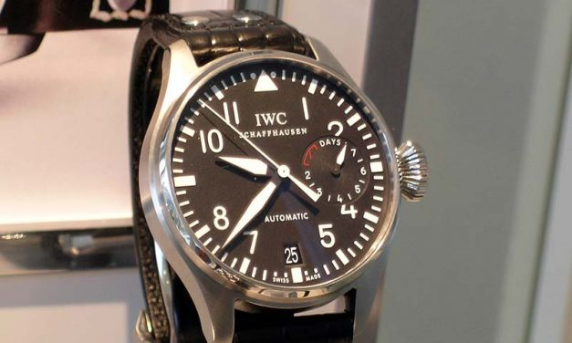 Black Dial IWC Big Pilot Steel Replica Watch ref.IW500401