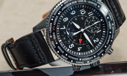 Black dial iwc pilot timezoner chronograph replica watch