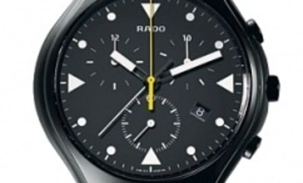 Matt Black Ceramic Rado True Sport Chronograph Replica Watch