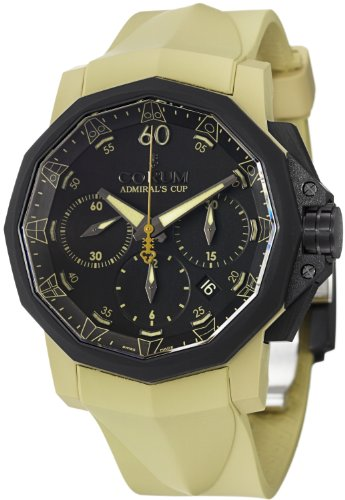 Green corum admiral cup challenger 44 chrono rubber replica watch