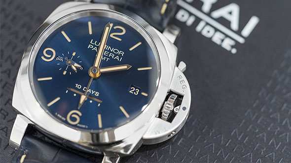Best Panerai Luminor 1950 10 Days GMT Automatic Replica Watch PAM00689