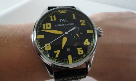 Black Dial IWC Big Pilot Top Gun Replica Watch