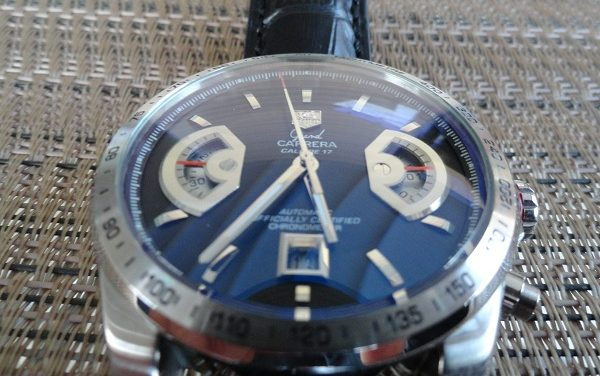 Black Dial Tag Heuer Grand Carrera Calibre 17 Replica Watch