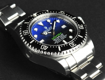 Steel Rolex Sea-Dweller Deepsea Deep Blue James Cameron Replica Watch 116660