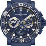 Blue Dial Ulysse Nardin Diver Chronograph Artemis Racing Watch Replica