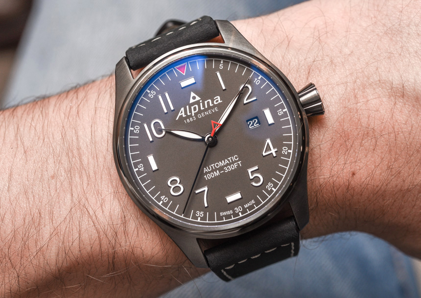 Discount Alpina Startimer Pilot Automatic Watch For 2017 Hands-On Japanese Movement Replica Watches