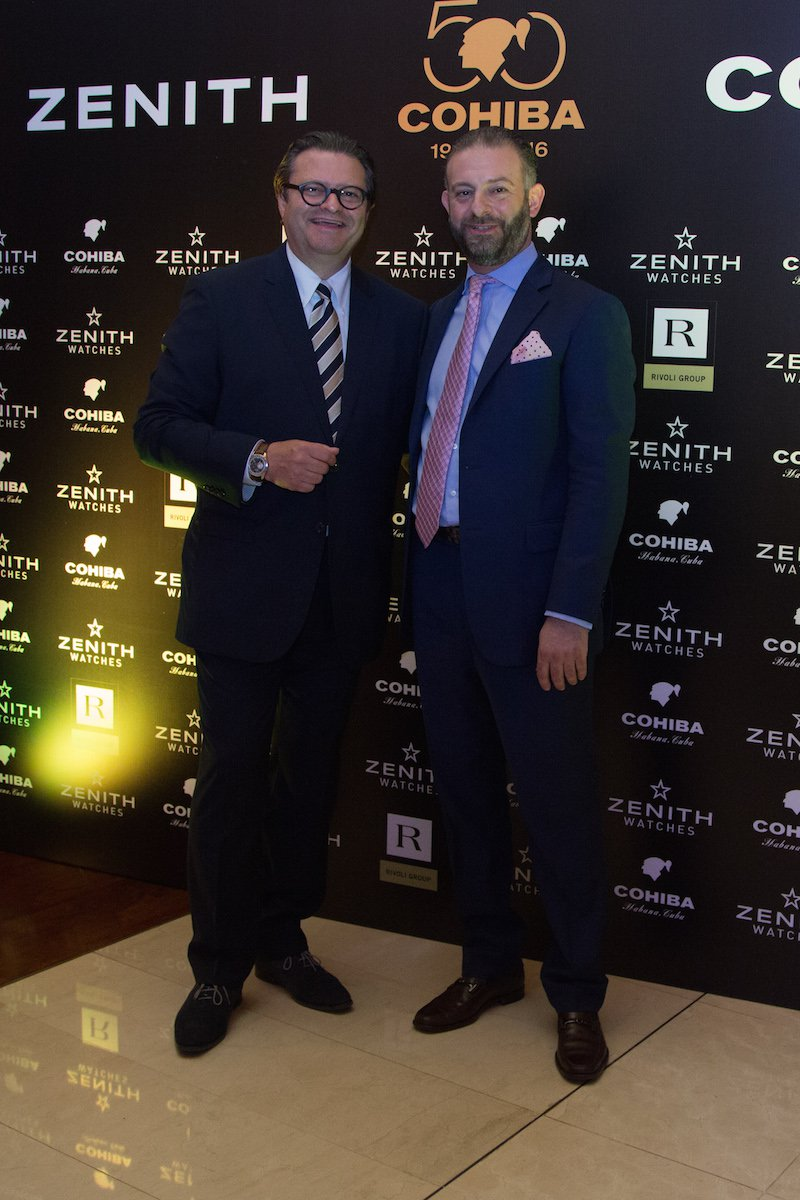 Zenith CEO Aldo Magada and Zenith watches malaysia price Replica Regional Director Georges Bechara.