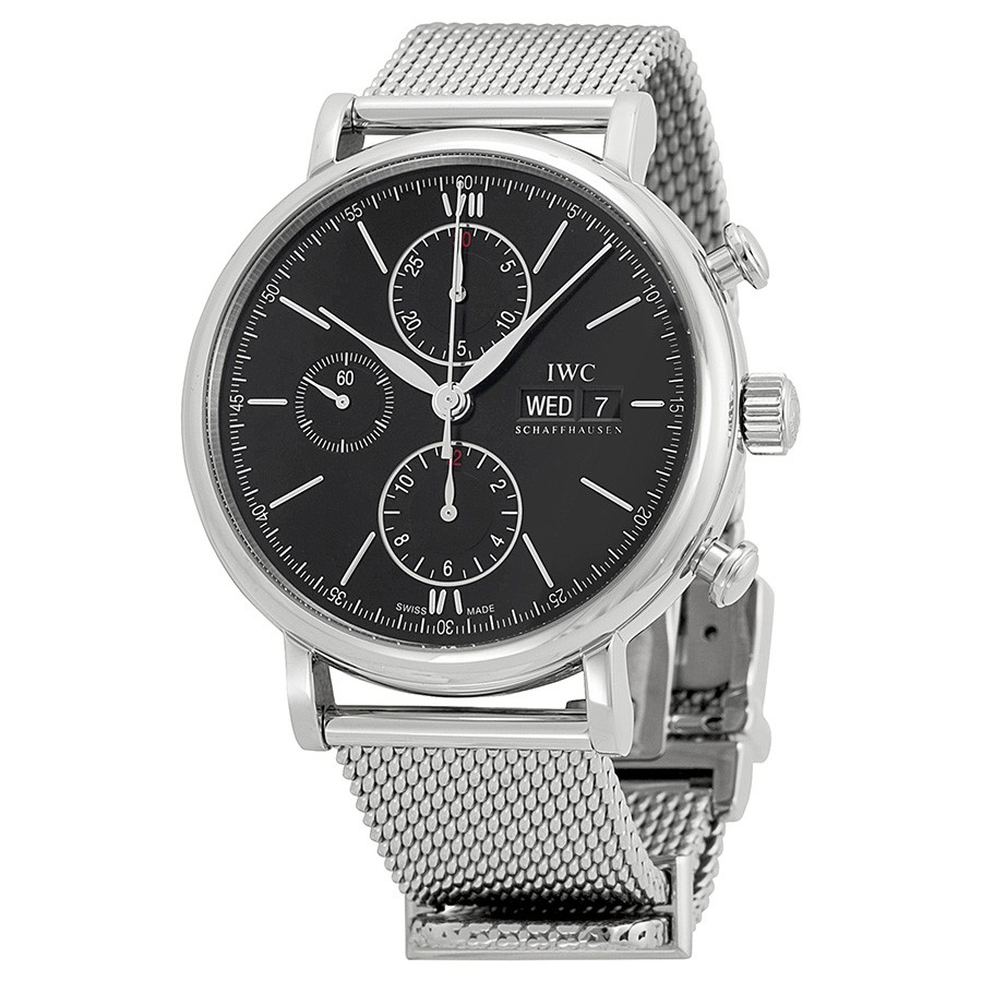 IWC Portfonio Chronograph Automatic Black Dial Steel Men's Watch IW391010