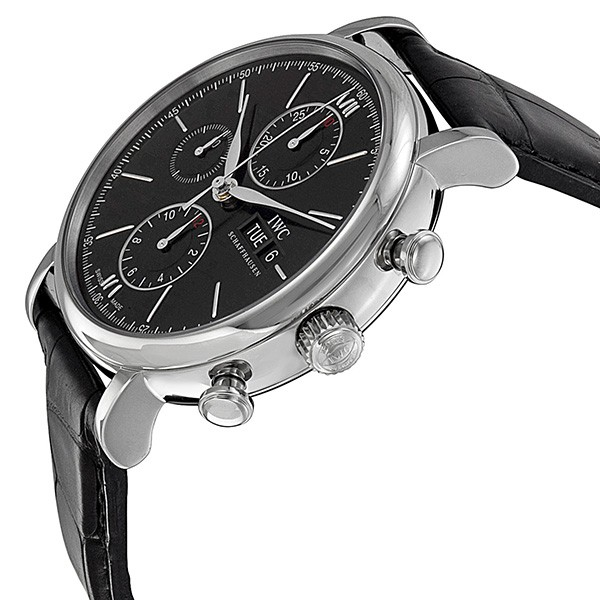 IWC Portofino Automatic Chronograph Black Dial Men's Watch IW391008