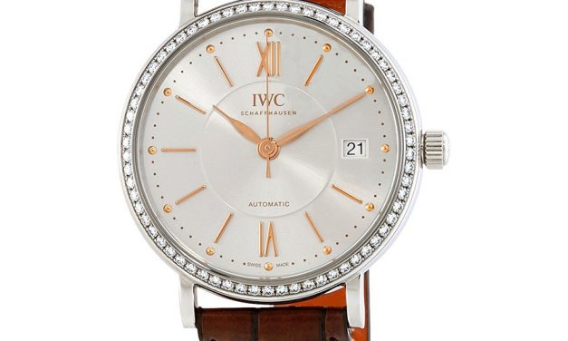 IWC Portofino Automatic Silver Dial Diamond Unisex Watch Item No. IW458103  Replica Clearance