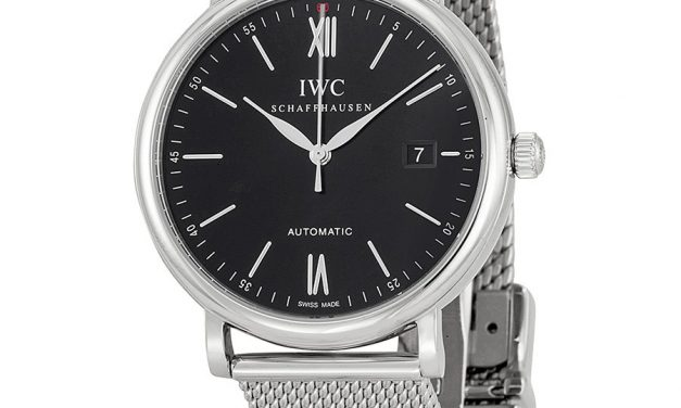 IWC Portofino Black Dial Stainless Steel Men's Watch Item No. IW356506  Japanese Movement Replica