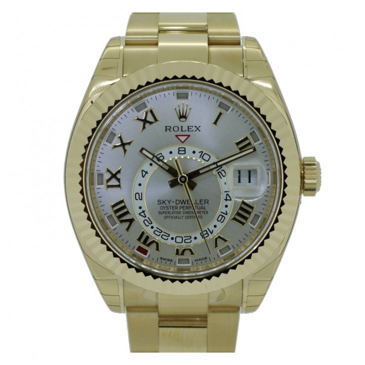 Yellow Gold Rolex Sky-Dweller Replica Cheap Watches