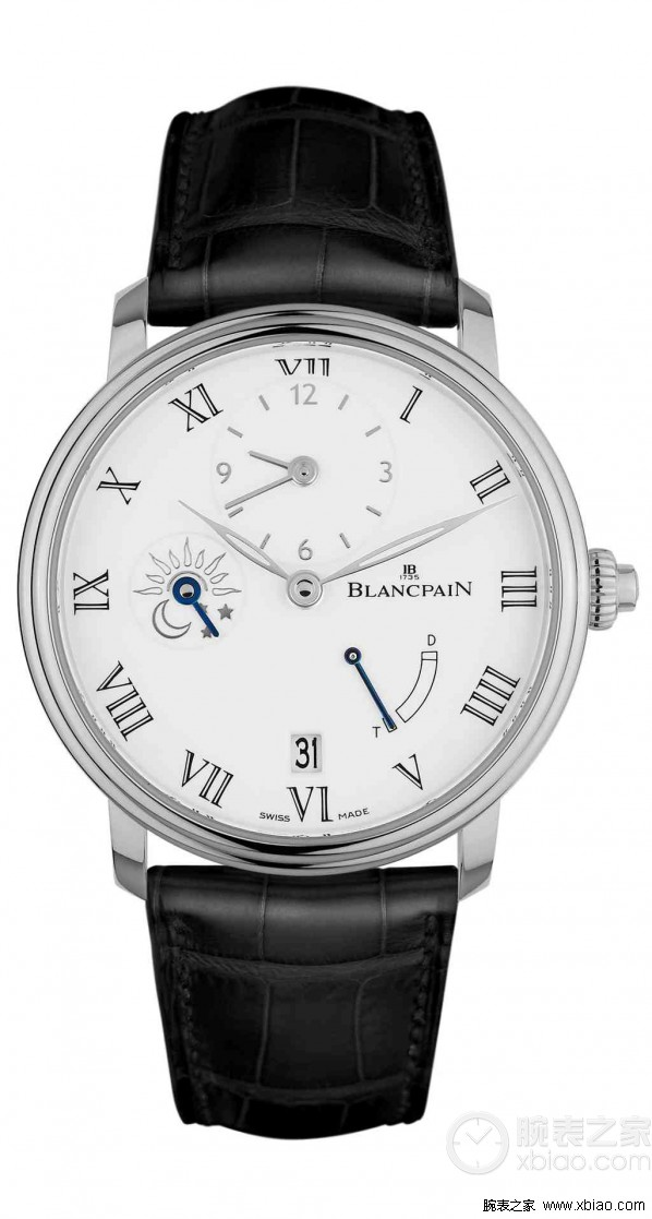 Public Support Replica Blancpain Marine White Dial Black Leather Steel Watch