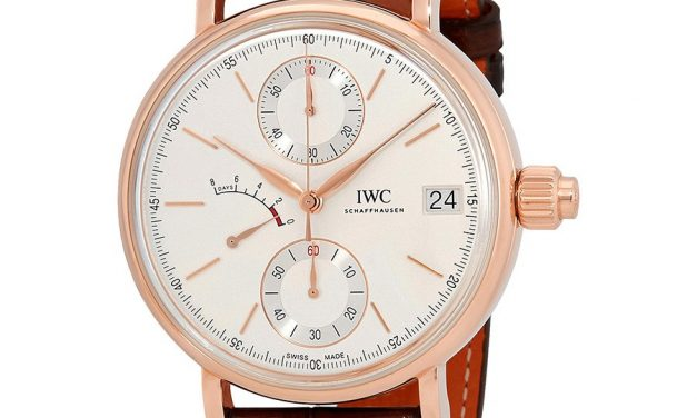 IWC Portofino Monopusher Silver-Plated Dial Chronograph 18K Rose Gold Men's Watch Item No. IW515104  Replica At Best Price